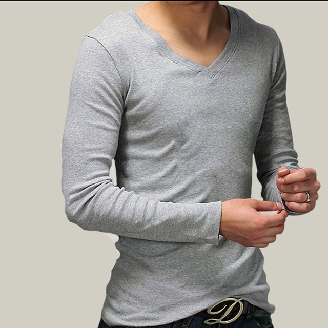 ba5cfd0da9e New Hot Men Summer T-Shirt Full Sleeve Loose Casual Solid Clothes O-Neck  Fashion Slim Tees Brand High Quality Clothes Top