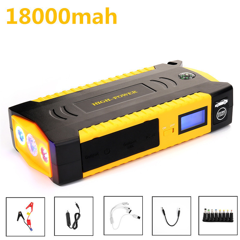 Car Jump Starter Power Bank 12V 600A Auto Booster Multifunctional Emergency Ignition Charger For Auto Battery Starting EU Plug car jump starter power bank supply 12v 600a auto booster multifunctional emergency ignition for auto travel starting device