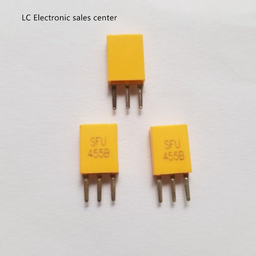 50 шт., керамический осциллятор SFU455B 455K с дистанционным управлением, радио, выделенный фильтр, три фута 455B 455k