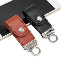 BiNFUL USB flash drive llavero de metal y piel Pendrive creativo USB 2,0 32gb 16gb 8gb 4gb