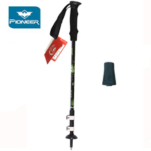 PIONEER Nordic Walking Sticks Telescopic Trekking Hiking Poles Ultralight Canes Stick Adjustable Alpenstock 2Pcs