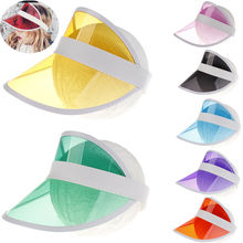 Little Girls Kids Summer Sun Hat Visor Party Casual Hats Clear Plastic PVC Kid Sunscreen Cap Accesorries