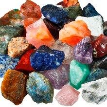 Pedra solta áspera do quartzo de cristal natural de tumbeelluw 1lb (460g), pedras dadas forma irregulares cruas para cabbing, caindo, corte, lapidação