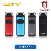 Original Aspire Breeze Kit All in one 2ml Capacity 650mAh Battery 0.6ohm Rebuildable Coil E Cigarette Vaporizer Aspire Breeze
