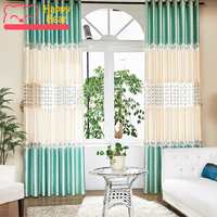 Happy Bear Window Curtain for Living Room Embroidered Semi transparent Curtains Modern Bedroom Decorative Curtains for Window
