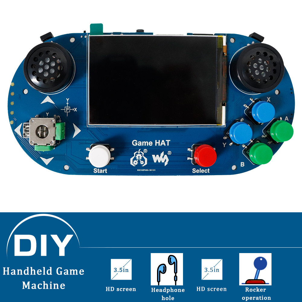 3.5 inch IPS screen Raspberry Pi game console handheld game player expansion board Compatible with Raspberry Pi A+/B+/2B/3B/3B+3.5 inch IPS screen Raspberry Pi game console handheld game player expansion board Compatible with Raspberry Pi A+/B+/2B/3B/3B+