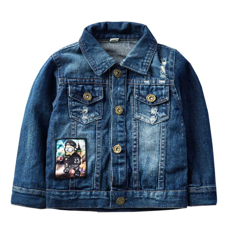 Kinder Jacke 2020 Frühling Herbst Neue Jungen Mädchen Cartoon Windjacke Baby Mode Brief Denim Jacken Für Kinder Oberbekleidung