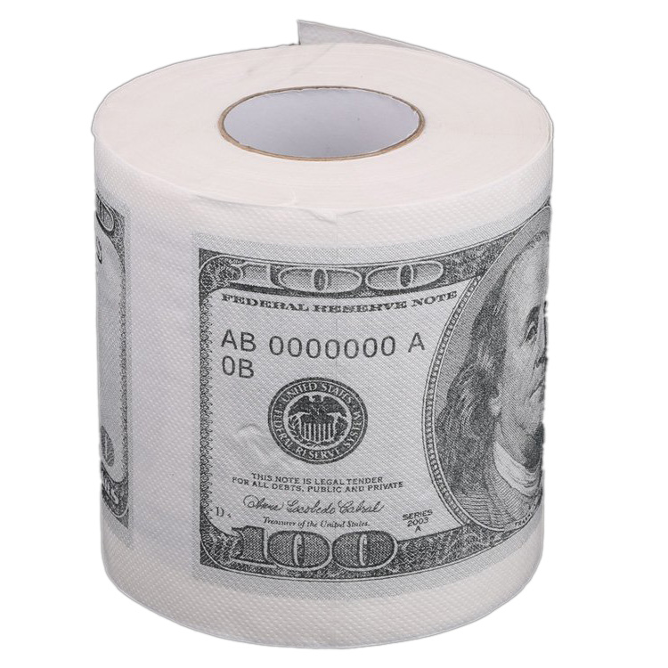 1Pc Funny One Hundred Dollar Bill Toilet Roll Paper Money Roll $100 Novel Gift ...