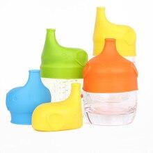 Мягкие Непроливающиеся крышки для малышей и детей, крышка для горлышка, бутылка для напитков, 1 шт., новинка, силиконовая форма слона