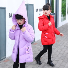 2018 Winter New Jacket for Girls Children's Overalls Cotton-padded Coat Kids Clothes Autumn Outerwears Warm Parka Enfant Jackets недорого