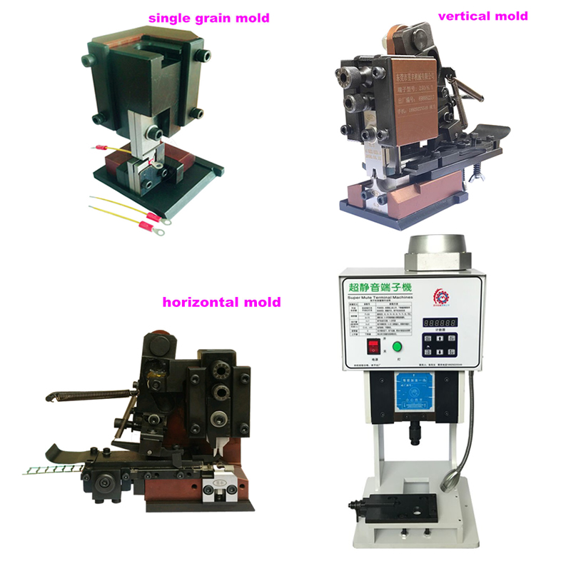 Electric Terminal Crimper 1 5T Low noise Crimping Machine Vertical Horizontal Single Grain Mold