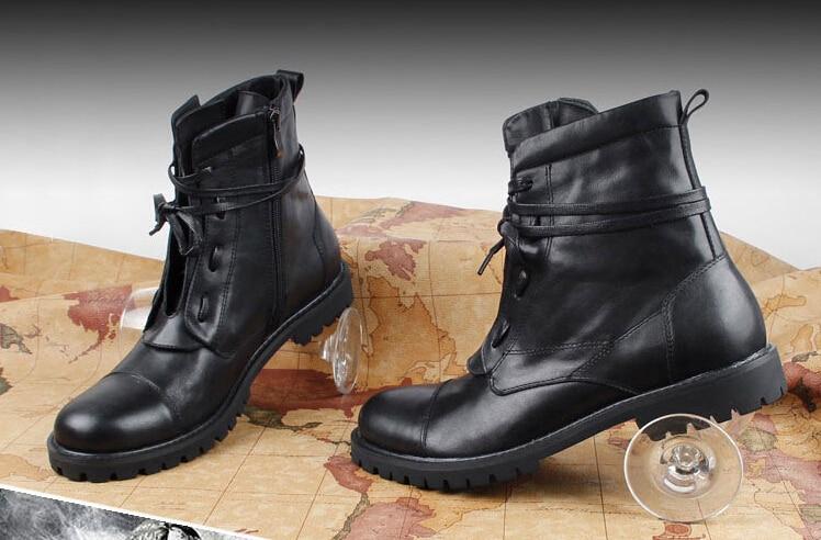 Black dress casual boots
