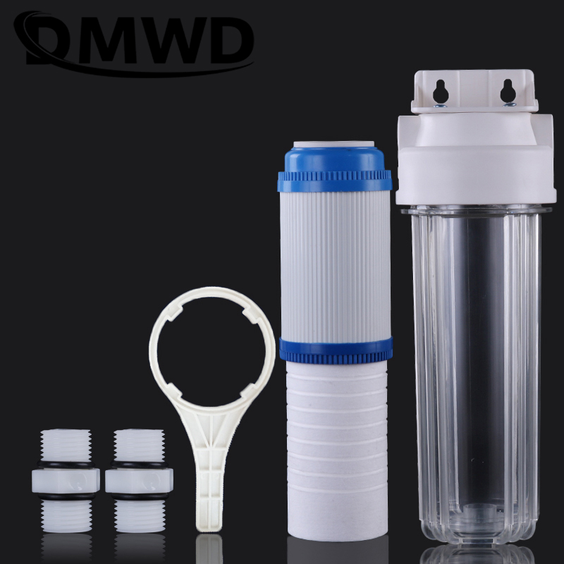 DMWD 10 Inches Pre-filter PP Cotton Explosion-proof Transparent Bottle Water Purifier Softener Activated Carbon Filter Cartridge