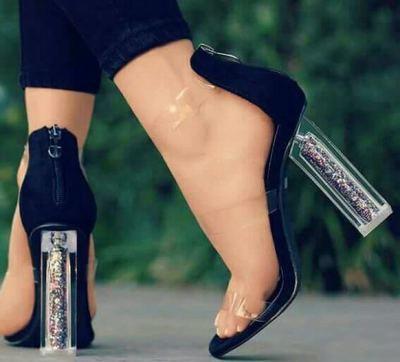 De Lttl Las Pvc Transparente Sandalias Mujeres Tacón Zapatos Alto Ibf76yYgv