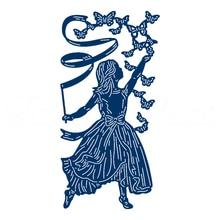Dancing Girl Butterflies Human Figure Metal Cutting Dies Stencils for Scrapbooking Embossing Die Cards Making Paper Craft 2019