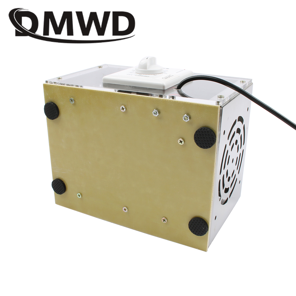 DMWD 20g Air Purifier Ozone Generator plate 20000mg/h Ozonator Portable Ozonizer Cleaner Sterilizer with Timing Switch 110V 220V