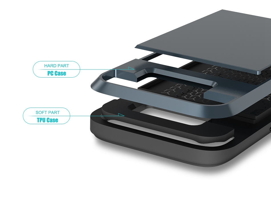 For Samsung S8 Plus Armor Case Galaxy S8 Hidden Card Slot Phone Cases  (7)