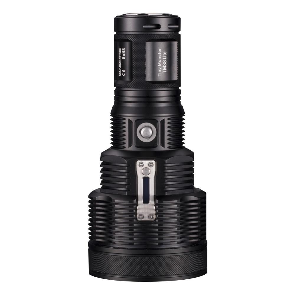 Nitecore TM38 Lite 1400 Meters Beam Distance 1800 Lumens CREE XHP35 HI D4 LED Tiny Monster Rechargeable Flashlight Free Shipping nitecore ec11 cree xm l2 18350 900 lumens 190m beam distance flashlight searchlight torch