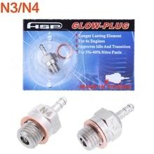 2PCS N3 N4 Hot Spark Glow Plugs 3 4 SH Vertex OS Nitro Engine Parts For