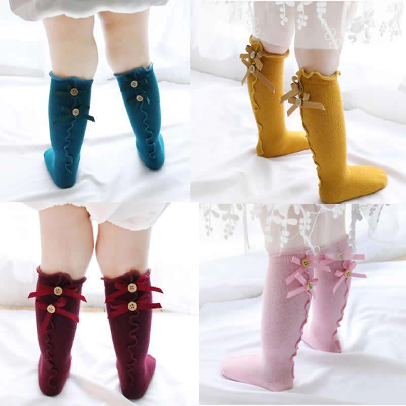 High Elasticity Girl Cotton Knee High Socks Uniform Autumn Apple Tree Women Tube Socks
