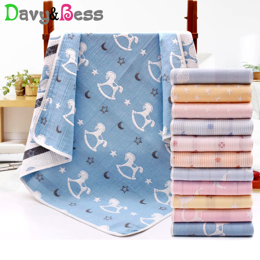 Baby Blanket Newborn Cotton Muslin Swaddle Wrap Children's Blanket For Baby Swaddle Blanket Muslin Squares Baby Wrap Bath Quilt