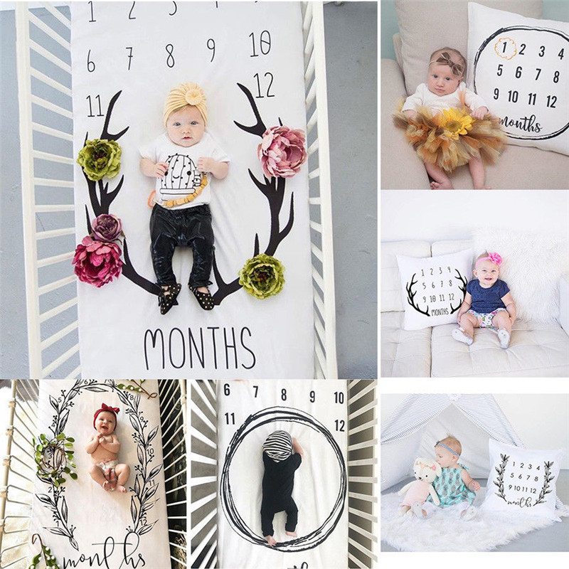 Home Textile 2018 Baby Girl Boy Blanket Pillow For Photo Backdrop Photography Prop Shoots Blanket
