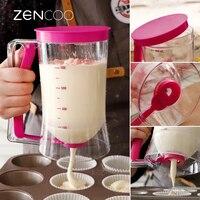 ZENCOO Manual de Ferramentas de Cozimento Pastelaria Bolo Pancake Batter Dispenser Máquina Ferramenta Separador de Nata