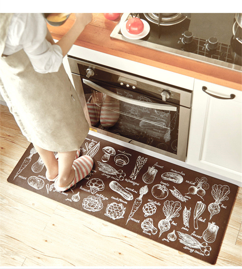Kitchen Carpets Black Faucets Pull Out Spray Xyzls Modern Welcome Floor Mats Vegetables Printed House Doormats For Home Living Room Anti Slip Tapete Rug 1pc