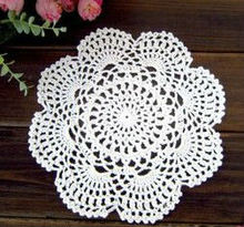 6 pcs/set Handmade Crochet flower Placemat Shabby Chic Wedding Event Decor Crocheted Doilies