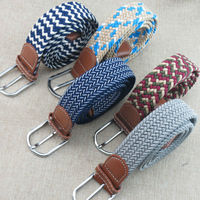 2 Pieces Lot Men S And Women New Design Knitted Elastic Band Braided Belt Woven