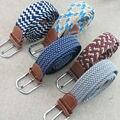 (2 peças/lote) Os Homens e as mulheres novo design de banda de malha elástica cinto trançado. Tecido elástico livre grátis