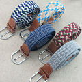 (2 unids/lote) de Los Hombres y de las mujeres nuevo diseño de la banda elástica de punto cinturón trenzado. Tejido elástico de la pretina de envío gratis