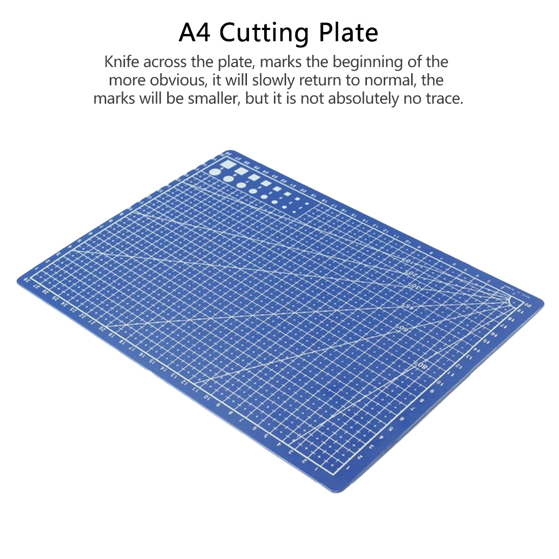 Cutting Plate 1PC A4 Grid Lines Self Healing Cutting Mat Craft Card Paper Board 30 X 22cm Blue