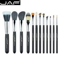 JAF 12 stks Up Kwasten Set Schoonheid Poeder Foundation Oogschaduw Borstel Make up Borstels Cosmetische Gereedschap met Cilindrische doos