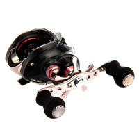 High Quality Durable Stainless Plastic Baitcast 11 1BB Fishing Reel Ball Bearing Hand Black Right Handle
