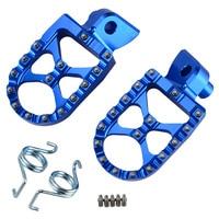 CNC WIDE FAT Foot Peg Rest Footrest For Yamaha YZ65 85 125 250 YZF250 450 YZ250F YZ450F YZ125X YZ250FX WR250F WR450F