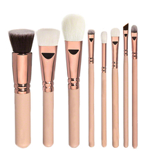 8pcs Rose Golden Makeup Brushes Set Cosmetic Tool Blusher Eye Shadow Brush Kits Powder Foundation Brush