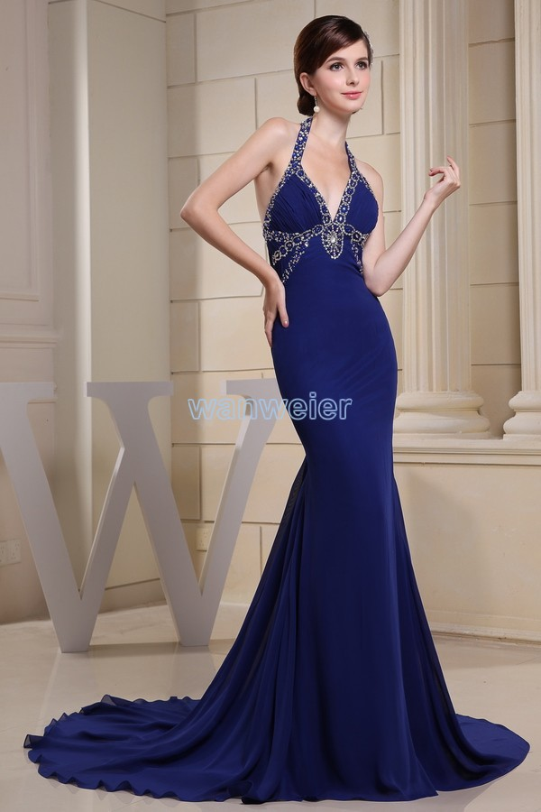 free shipping 2014 mermaid elie saab new arrival custom size/color evening gown luxury chiffon elegant evening dress big size