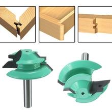 1 шт. 45 градусов соединение в УС с врезкой маршрутизатор бит 1-1/2 «Диаметр 1/4» хвостовик зеленые деревянные фрезы по дереву инструменты для сверления