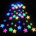 Coversage Lámpara Cortina de la Secuencia del Led Luces de Hadas de la Secuencia de La Boda Decoración Del Árbol de Navidad Estrellas Lucine Decorativo Jardín Al Aire Libre