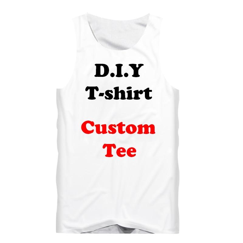3D Print Diy Custom Design Fashion Men   Tank     Top   Fitness Undershirt Womens Sexy Vest Wholesalers