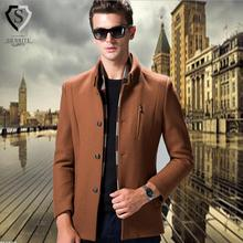 Brand New woolen trench coat fashion Winter peacoat Men's single breasted wool overcoat warm clothing M-3XL plus size w1721