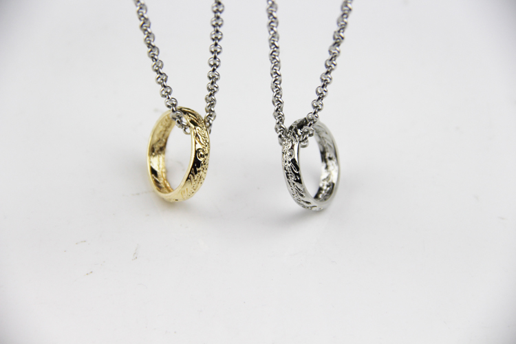 Fashion Jewelry Gold and silver charm The lord of the rin gs Pendants Necklace For Men