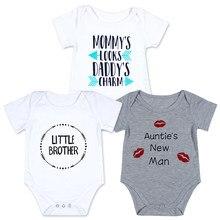 be396f4d7 2018 bebé importado ropa de niña pequeña de bebé de algodón ropa de niño  cumpleaños papá poco tía de manga corta mono
