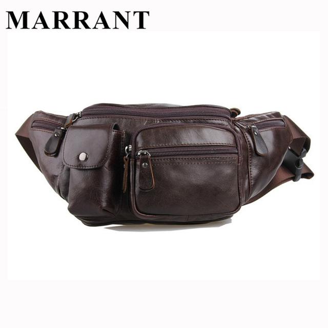 Marrant 100% genuínas dos homens de couro homem fanny cintura packs bolsa de ombro dos homens bolsa de moda pequeno saco de viagem do vintage masculino saco da cintura