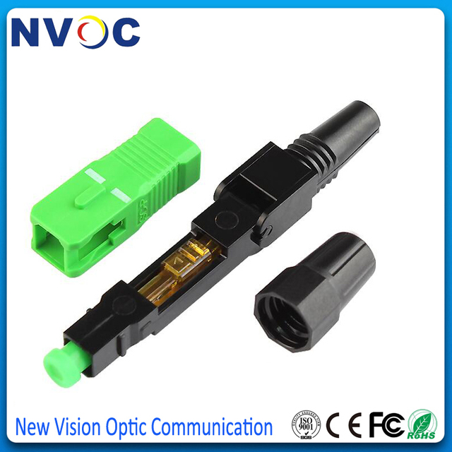 Free Shipping 200PCS FTTH SC APC single-mode fiber optic SC APC quick connector SC FTTH Fiber Optic Fast Connector SC Connector