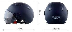 Image 3 - ฤดูร้อนใหม่รถจักรยานยนต์ไฟฟ้าจักรยานสกู๊ตเตอร์หมวกกันน็อกครีมกันแดด Anti UV Motos หมวกกันน็อก casco Capacete CE