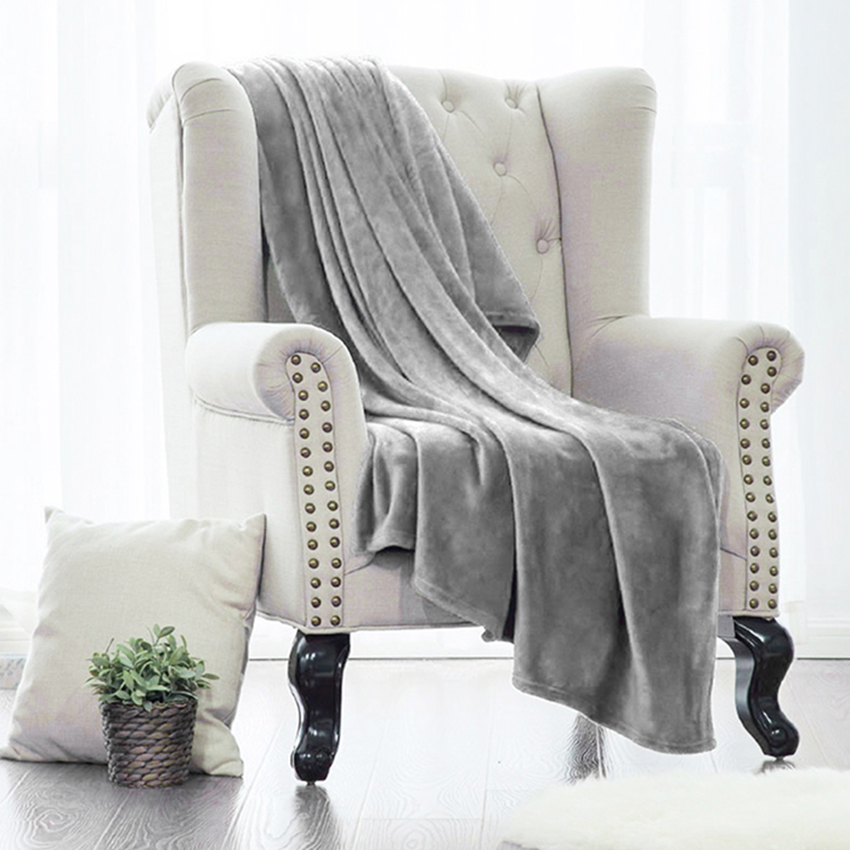 Soft Hot Sale Throw Blanket For Bedding On The Bed Warm Coral Sofa Blankets Travel Flannel Sofa Solid Color Blankets