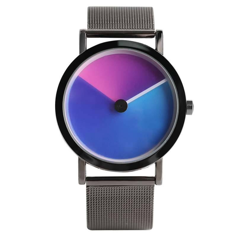 Unique Vortex Unisex Gradient Color Clock Male Aurora Rotating Quartz Wristwatch Luxury Sport Dress Watch Men Women Hours Gifts коврик напольный vortex вологодский 20092