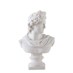 Apollo Head Portraits Bust Gypsum Greek Mythology Adelos Statue Home Decoration Resin Art&Craft Sketch Practice 31cm L1596